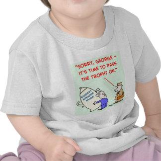 arbusto obama do gastador o mais grande nunca camiseta