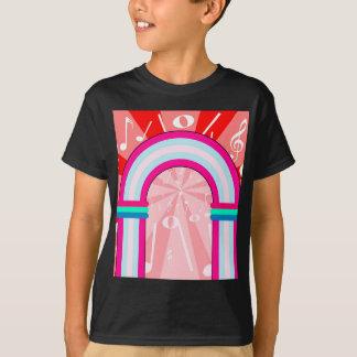 Arcada das notas musicais camiseta