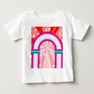 Arcada das notas musicais camiseta para bebê