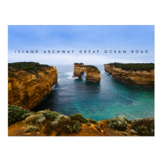 Arcada na grande estrada do oceano, Austrália da Cartão Postal