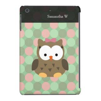 Arco bonito da coruja w/Pink de Brown Capa Para iPad Mini Retina