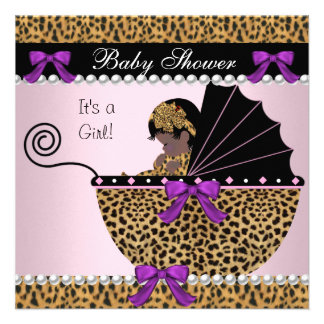 Arco bonito do leopardo do rosa do bebé de 2 chás  convites personalizado