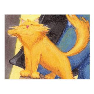 Arco/cartão da mostra do gato cartão postal
