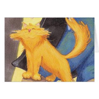 Arco da mostra do gato/cartão vazio