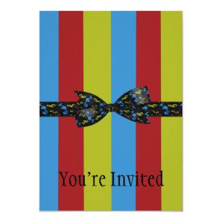 Arco das notas da música & listras coloridas da convite 12.7 x 17.78cm