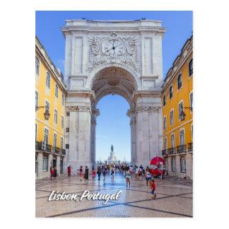 Arco de Rua Augusta em Lisboa Cartão Postal