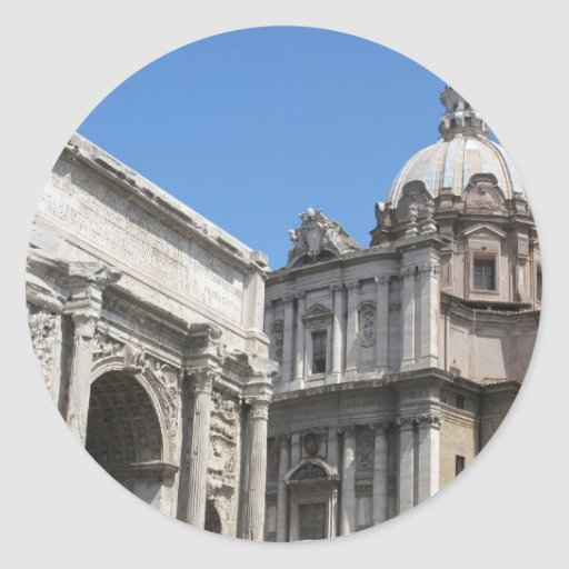 Arco de Titus, Roma -   arquitetura clássica Adesivo Redondo