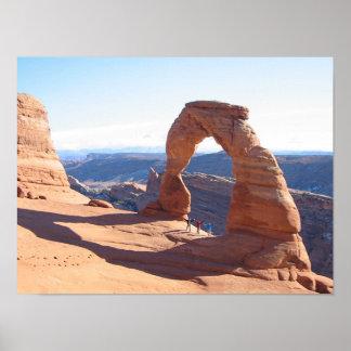 Arco delicado - parque nacional dos arcos poster