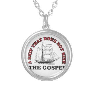 arco do evangelho colar banhado a prata