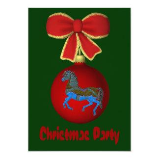 Arco do ornamento do convite do feriado do Natal