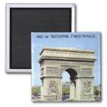 Arco do Triunfo, PARIS FRANCE Ímã Quadrado