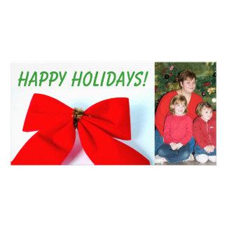 Arco gigante do feriado cartão com foto