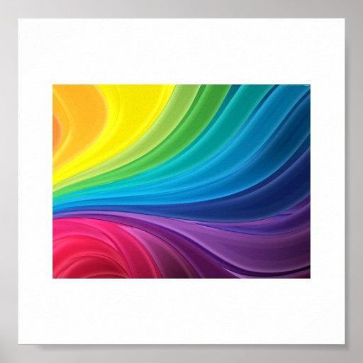 Arco-íris abstrato poster