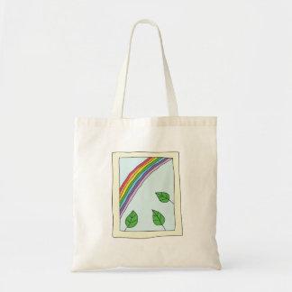 Arco-íris através do bolsa da janela