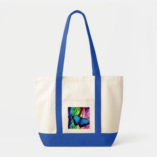 Arco-íris azul da borboleta bolsas