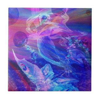 Arco-íris borboleta anjo azulejo de cerâmica