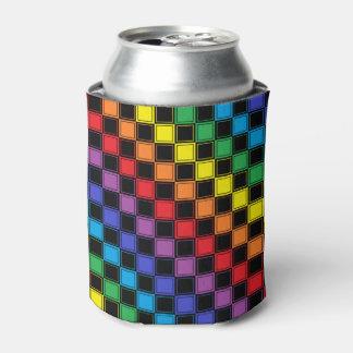 Arco-íris Checkered alinhado e preto