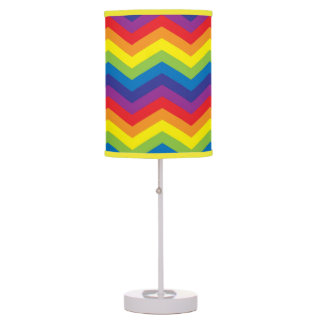 Arco-íris colorido brilhante candeeiro de mesa abajur