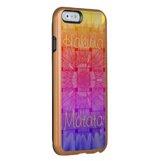 Arco-íris colorido de Hakuna Matata Capa Incipio Feather® Shine Para iPhone 6