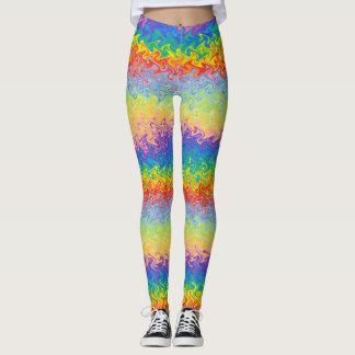 Arco-íris da dança legging