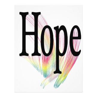 Arco-íris da esperança panfletos personalizado