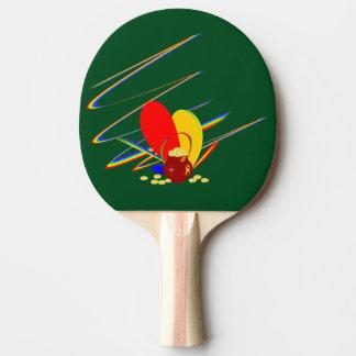 Arco-íris da mágica do ANG do dinheiro do ouro Raquete Para Tênis De Mesa