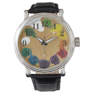 Arco-íris da paleta do ` s do artista relógio