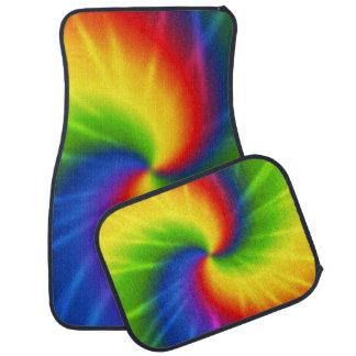 Arco-íris da tintura do laço tapete para carro