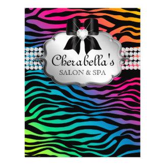 Arco-íris da zebra do cabelo do insecto do salão d panfleto personalizado