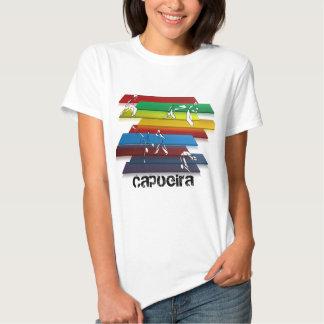 arco-íris das artes marciais do capoeira das tshirts