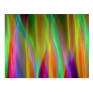 Arco-íris de néon - brilhante e alegre - cartão