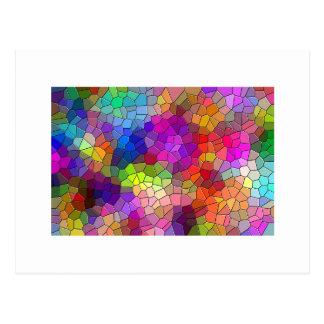 Arco-íris do azulejo de mosaico cartão postal