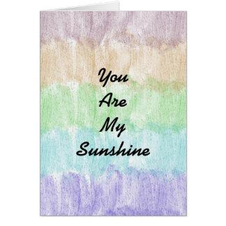 Arco-íris do brilho cartões