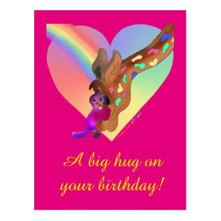 Arco-íris do coração & cartão de Lila