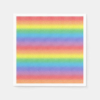 Arco-íris do fosco guardanapo de papel