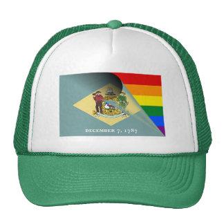 Arco-íris do orgulho gay da bandeira de Delaware Boné