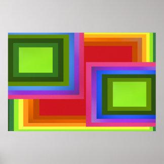 Arco-íris do retângulo posteres