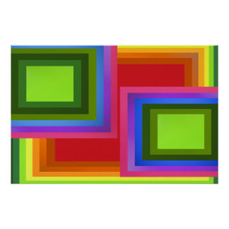 Arco-íris do retângulo pôster