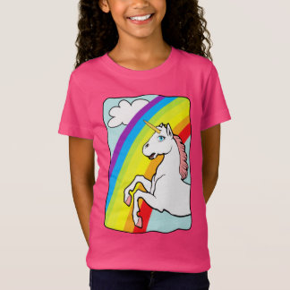 Arco-íris do unicórnio camiseta