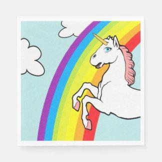 Arco-íris do unicórnio guardanapo de papel