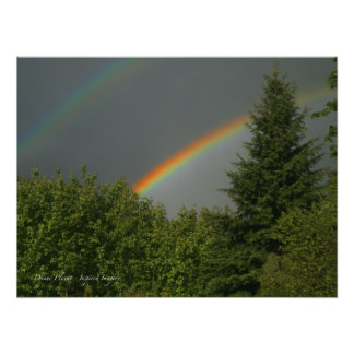 Arco-íris dobro impressão fotográficas