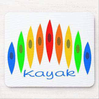 Arco-íris dos caiaque mouse pad