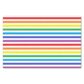 Arco-íris e lenço de papel das listras do branco