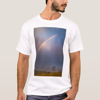 Arco-íris e paisagem da árvore camiseta