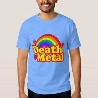 Arco-íris engraçado do metal da morte (olhar camiseta