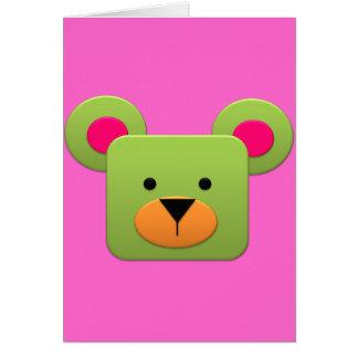 Arco-íris GreenTeddy da fantasia do bombom Cartão Comemorativo