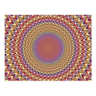 Arco-íris hipnótico do círculo da ilusão óptica cartão postal