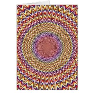 Arco-íris hipnótico do círculo da ilusão óptica co cartoes