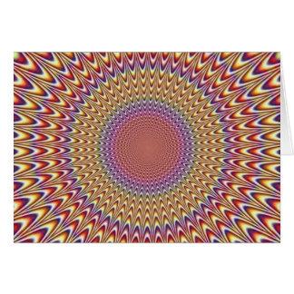 Arco-íris hipnótico do círculo da ilusão óptica co cartão comemorativo