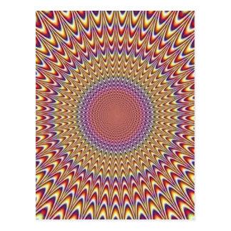 Arco-íris hipnótico do círculo da ilusão óptica co cartão postal
